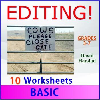 Editing Skills   Basic - 10 Printable Worksheets (Grades 3-7)