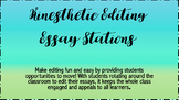 Editing Stations- Kiniesthetic/Color Coded Activity!
