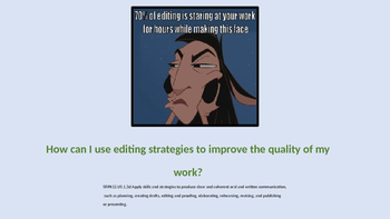 Editing Strategies Powerpoint .ppt / Learning Strategies