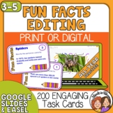 Editing Task Cards for Proofreading Practice