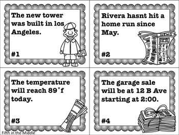 FREE Editing Task Cards for Upper Elementary