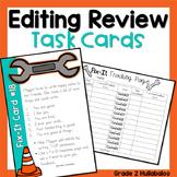 Editing Task Cards - Sentences, Paragraphs, Editing, Revising and Peer Feedback