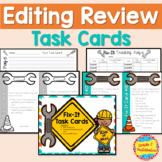 Editing Task Cards - Sentences, Paragraphs, Editing, Revis