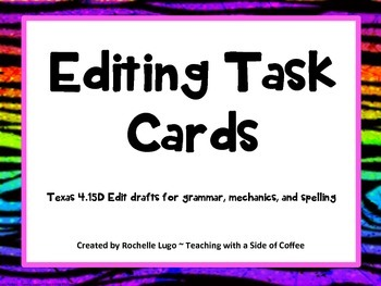 Editing Task Cards with QR codes