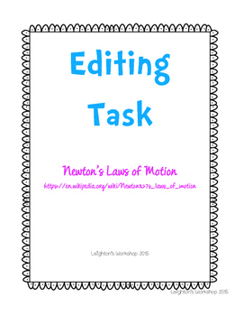 Editing Task FSA Practice Laws of Motion NO PREP