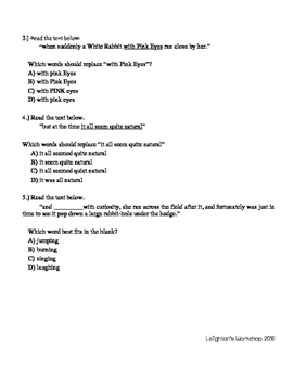 Editing Task FSA Practice Packet (5 passages included!) NO PREP