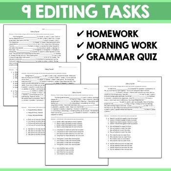 Editing Tasks - Grammar Practice 1