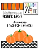 Editing Tasks - Halloween