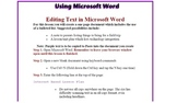 Editing Text in Microsoft Word