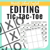 Editing Tic-Tac-Toe - 40 Sentences - 7th Writing State Test Aligned