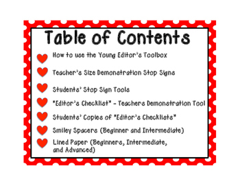 Editing Tools for Beginning Writers