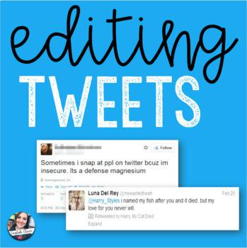 Editing Tweets Worksheet + Activity