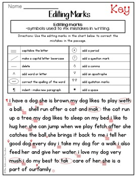 Editing Using Proofreading Marks
