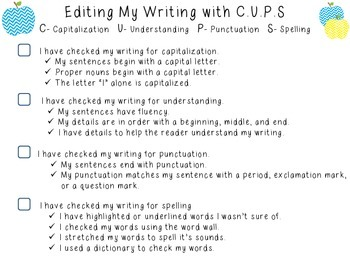 Editing Writing with C.U.P.S