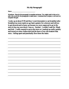Editing a Paragraph