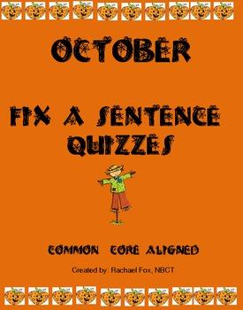 Editing a Sentence (Sentence editing)- October