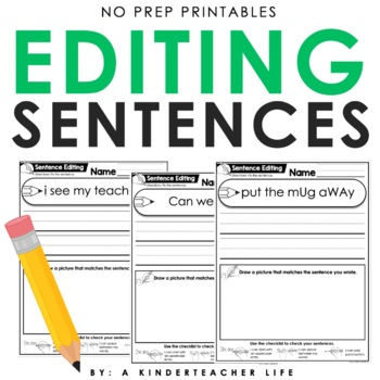 Editing a Sentence for Periods, Spaces Between Words and U