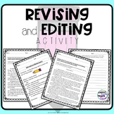 Editing activity- Informational writing sample