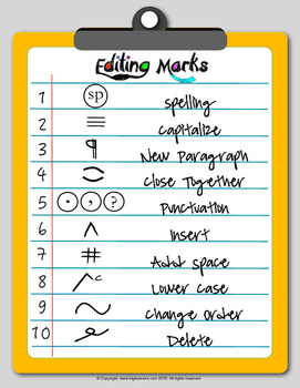 Editing and Proofreading Marks - Poster, Worksheets, and more..