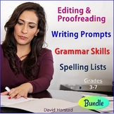 Editing and Proofreading Worksheets + 223 Writing Prompts + 70 Spelling Lists