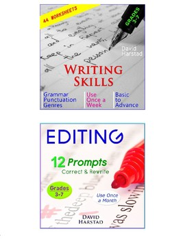 Editing and Proofreading Worksheets + 70 Spelling Lists