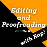 Editing and Proofreading Worksheets and Proofreading Passages Using Rap Songs #2