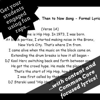 Editing and Proofreading Worksheets and Proofreading Passages Using Rap Songs #1