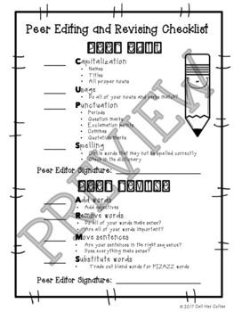 Editing and Revising Checklist