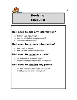 Editing and Revising Checklist Pack