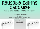 Editing and Revising Checklist for Student Desks
