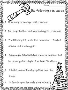 Editing and Revising Christmas Craftivity