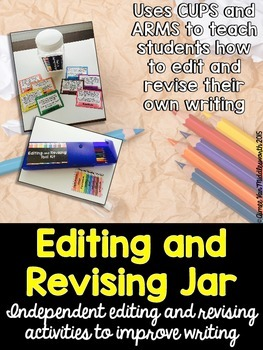 Editing and Revising Jar for Writing (EDITABLE)