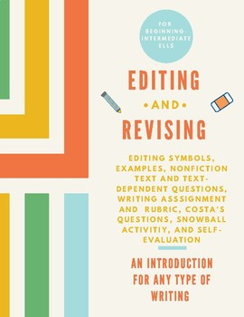 ESL Editing/Revising Lesson + Costa's Q's + Informational Text w/Quiz ALL LEVELS