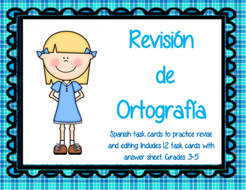 Editing and Revising Practice in Spanish