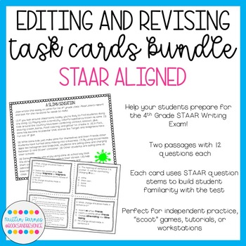 Editing And Revising Task Cards Bundle STAAR Aligned