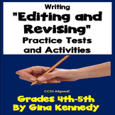 Editing and Revising Writing Practice Tests and Activities