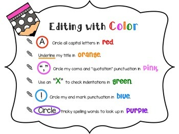 Editing and Revising with Color