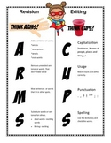 Editing and Revision Anchor Charts