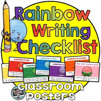 Editing and Revision Checklist Posters- Show your work with different colors!