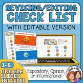 Editing and Revision Checklist - Show your work with diffe