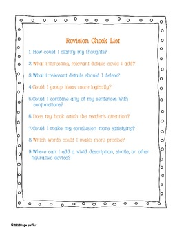 Revision Check Lists
