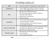 Editing checklist for Writing Assignments
