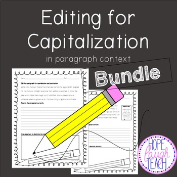 Editing for Capitalization (and Punctuation) Bundle