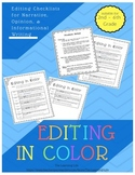 Editing in Color: Narrative, Opinion, and Informational Editing Checklists