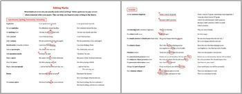 Editing marks for ESL/ELL writers