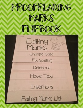 Editing or Proofreading Marks Flipbook