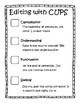 Editing with CUPS Checklist