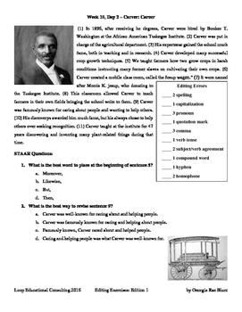 Editing with SSS - Week 10 - George Washington Carver
