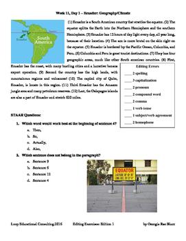 Editing with SSS - Week 11 - Ecuador