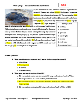 Editing with SSS - Week 2 - The Leatherback Sea Turtle